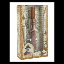 Nagy Elmék - Churchill szivar- és whiskeys üveg Professor Puzzle ördöglakat