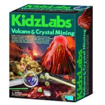 Vulkán és kristály bányászat