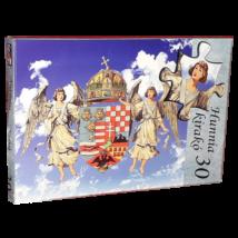 30 db-os Hunnia puzzle - Angyalkás címer