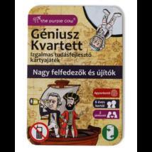 Géniusz kvartett: Nagy felfedezők és újítók - ismeretterjesztő kártyák