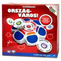 ORSZÁG - VÁROS elektronikus társasjáték