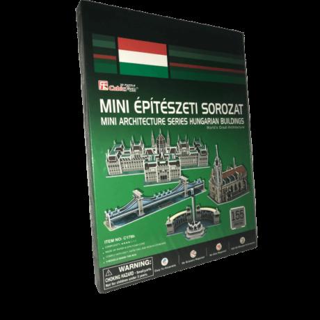 Magyarországi épületek 155 darabos mini 3D puzzle