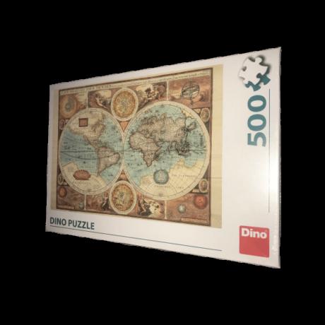 Puzzle 500 db - Világtérkép 1626-ból