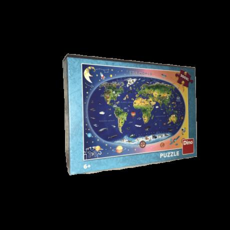 Állatos világtérkép 300 darabos XL puzzle