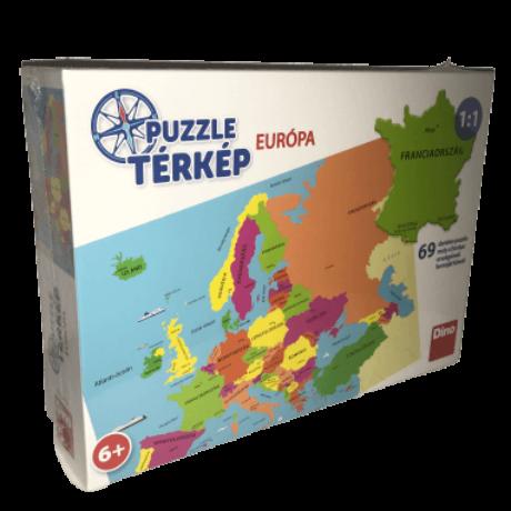 Európa térkép magyarul 69 darabos puzzle