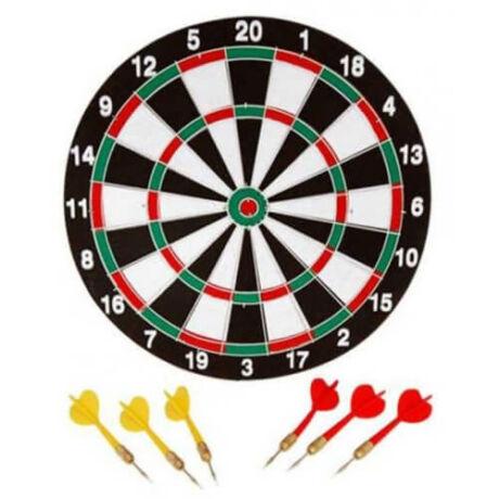 Darts tábla szett, 3-3 nyíllal - Salta