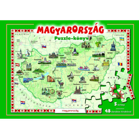 Magyarország - Puzzle könyv (antikvár)