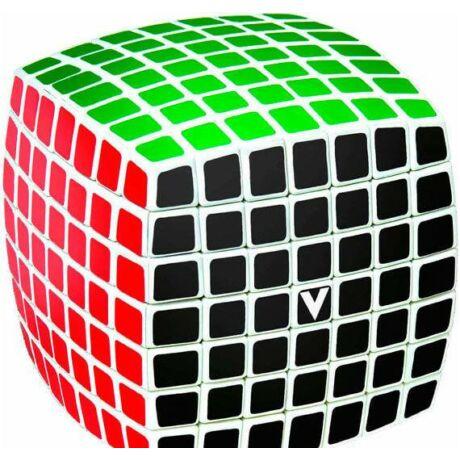 V-Cube versenykocka 7x7, fehér alapszín, lekerekített
