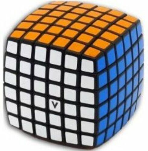 V-Cube versenykocka 6x6, fekete alapszín, lekerekített