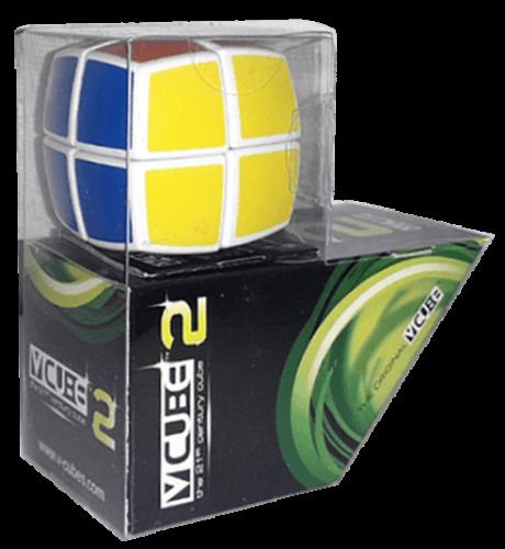 V-Cube 2x2 versenykocka, lekerekített, fehér, matrica nélküli